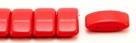 #06.00 - 10 Stück Zweiloch-Glasperle 9x17 mm - Opaque Red
