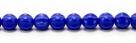 25 Stück Perlen Melone - Ø 6mm Opaque Sapphire
