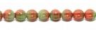 25 Stück Perlen Melone - Ø 6mm Opaque Terracotta/Opal Mint Green