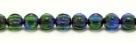 25 Stück Perlen Melone - Ø 6mm Tr. Emerald/Lilac Wash