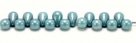 #23 - 20 Glastropfen 4x6mm chalk white blue luster
