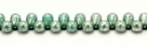 #28 - 20 Glastropfen 4x6mm opaque green turquoise/silver luster