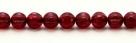 25 Stück Perlen Melone - Ø 6mm Opal Raspberry/Wash