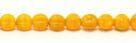 25 Stück Perlen Melone - Ø 6mm Opal/Opaque Yellow