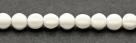 25 Stück Perlen Melone - Ø 6mm Opaque White