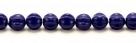 25 Stück Perlen Melone - Ø 6mm Opaque Navy Blue