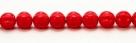 25 Stück Perlen Melone - Ø 6mm Opaque Red