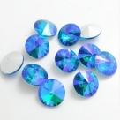 1 Glas-Rivoli 16 mm - lake blue AB
