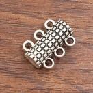 1 Magnetverschluss 3 Ösen antik silberfarben