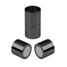1 Magnet-Verschluss Ø 25x15mm zum Kleben - gunmetal