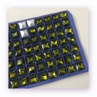 1 Glas-Square Princess Ø 12x12 mm - olivine