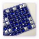 1 Glas-Square Princess Ø 12x12 mm - cobalt