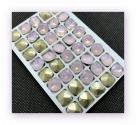 1 Glas-Square Ø 12x12 mm - opal rosé