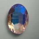 1 Glas-Oval Ø 30x20x8 mm - crystal AB