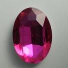 1 Glas-Oval Ø 30x20x8 mm - hot pink