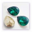 1 Resin Tear Stone, 18x25 mm - Emerald