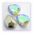 1 Resin Tear Stone, 18x25 mm - Crystal AB