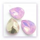 1 Resin Tear Stone, 18x25 mm - Rose Opal
