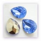 1 Resin Tear Stone, 18x25 mm - Air Blue