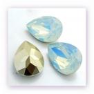 1 Resin Tear Stone, 18x25 mm - White Opal