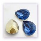 1 Resin Tear Stone, 18x25 mm - Montana Blue