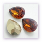 1 Resin Tear Stone, 18x25 mm - Dk Topaz