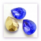 1 Resin Tear Stone, 18x25 mm - Cobalt Blue