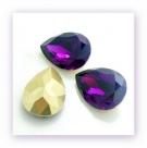 1 Resin Tear Stone, 18x25 mm - Violet