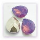 1 Resin Tear Stone, 18x25 mm - Cyclamen Opal