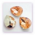 1 Resin Tear Stone, 18x25 mm - Peach