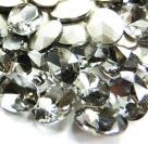 1 Glas-Oval Ø 25x18x6 mm - black diamond