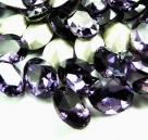 1 Glas-Oval Ø 25x18x6 mm - purple velvet