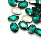 1 Glas-Oval Ø 25x18x6 mm - emerald