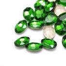 1 Glas-Oval Ø 25x18x6 mm - fern green