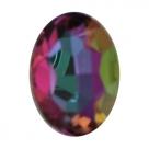 1 Glas-Oval Ø 30x20x8 mm - lt. vitrail