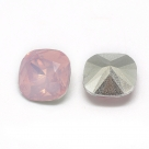 1 Resin Cushion Stone 10x10mm - Rose Opal