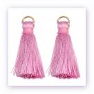 1 Stück Mini-Perlen-Quaste (ca. 3,6cm)  Ibiza Style - mit Öse - rose