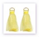 1 Stück Mini-Perlen-Quaste (ca. 3,6cm)  Ibiza Style - mit Öse - yellow