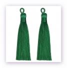 1 Stück Textil-Quaste (ca. 9,0cm)  - mit Öse - green