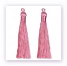 1 Stück Textil-Quaste (ca. 9,0cm) - mit Öse - pink