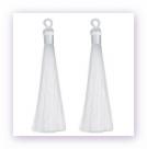 1 Stück Textil-Quaste (ca. 9,0cm) - mit Öse - white