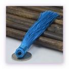 1 Stück Textil-Quaste (ca. 12,0cm) - zum Einkleben - sapphire blue
