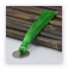 1 Stück Textil-Quaste (ca. 12,0cm) - zum Einkleben - peridot