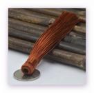 1 Stück Textil-Quaste (ca. 12,0cm) - zum Einkleben - teracotta