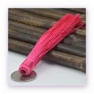 1 Stück Textil-Quaste (ca. 12,0cm) - zum Einkleben - pink