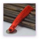 1 Stück Textil-Quaste (ca. 12,0cm) - zum Einkleben - red