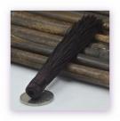 1 Stück Textil-Quaste (ca. 12,0cm) - zum Einkleben - deep brown