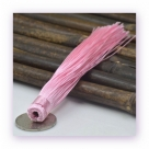 1 Stück Textil-Quaste (ca. 12,0cm) - zum Einkleben - rose