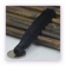 1 Stück Textil-Quaste (ca. 12,0cm) - zum Einkleben - black