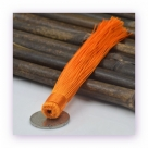 1 Stück Textil-Quaste (ca. 12,0cm) - zum Einkleben - orange